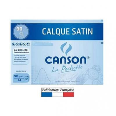 Feuille calque satin Canson A4 / 90g (x12) REF/200017154