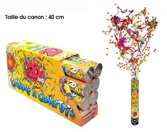 Canon a confettis 20ans 40cm