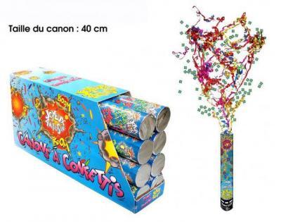 Canon à confettis: Joyeux anniversaire, 40cm (x1) REF/CAC00