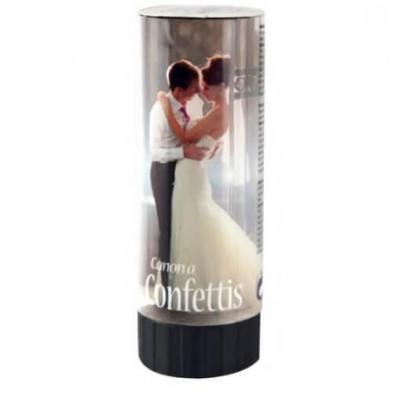 Canon à confettis blanc mariage, 20cm (x1) REF/CONF005