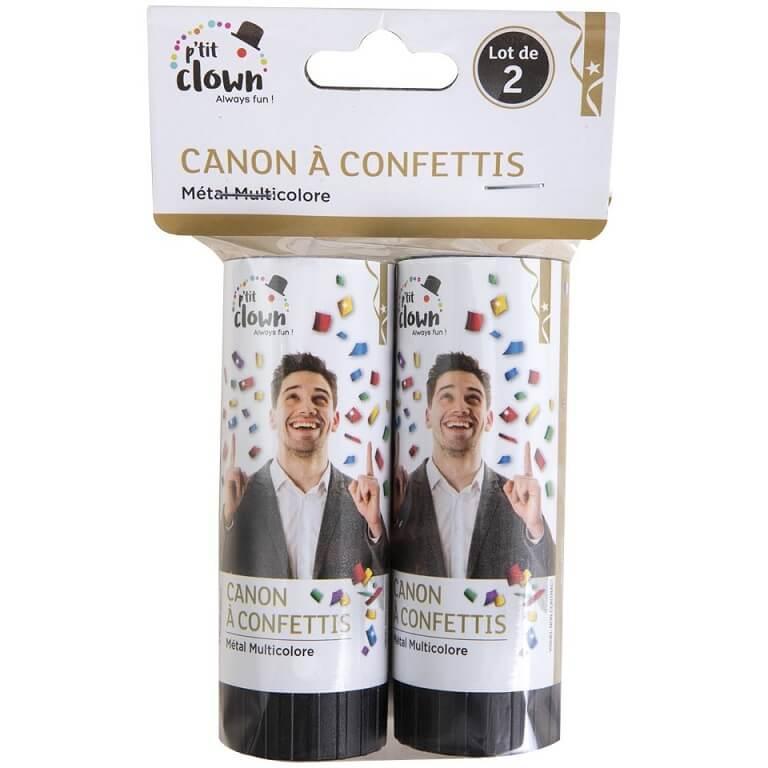 Canon a confettis multicolore metal