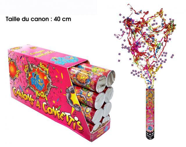 Canon a confettis retraite
