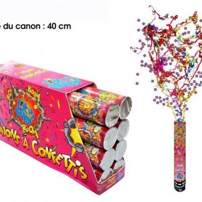 Canon à confettis retraite, 40cm (x1) REF/CAC08