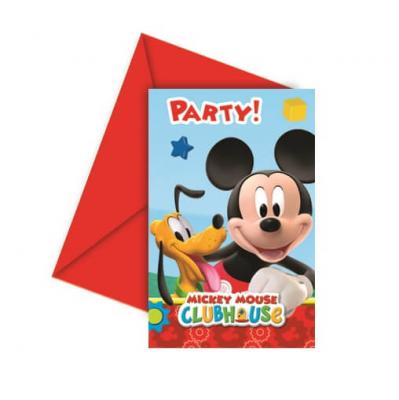 Carte d'invitation anniversaire Mickey (x6) REF/LMIC81513