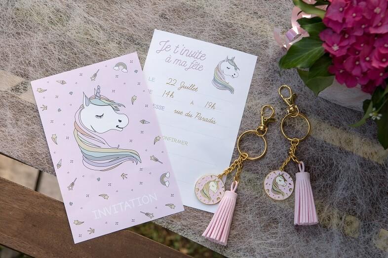 Carton d invitation licorne anniversaire enfant