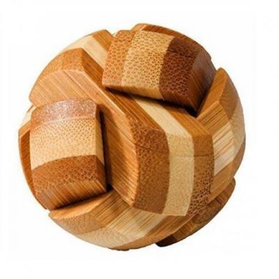 Jeu casse-tête Fridolin Bambou sphère en bois (x1) REF/FDBSP