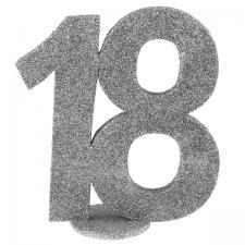 Centre de table anniversaire argent 18ans (x1) REF/4752