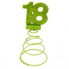 Centre de table anniversaire vert menthe 18ans (x1) REF/DEC768/18