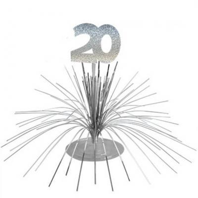 Centre de table anniversaire 20ans (x1) REF/CDT02