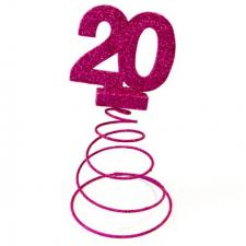 Centre de table anniversaire fuchsia 20ans (x1) REF/DEC768/20