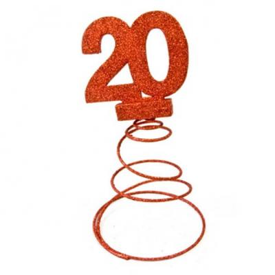 Centre de table anniversaire rouge 20ans (x1) REF/DEC768/20