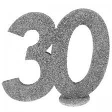Centre de table anniversaire argent 30ans (x1) REF/4752