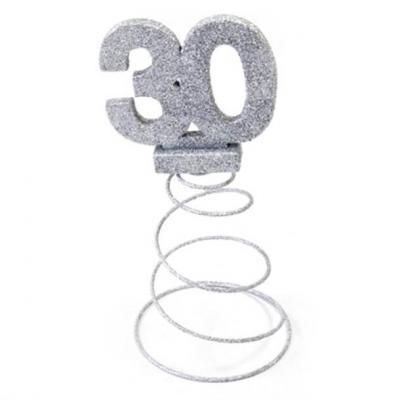 Centre de table anniversaire argent 30ans (x1) REF/DEC768/30