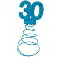 Centre de table anniversaire bleu turquoise 30ans (x1) REF/DEC768/30