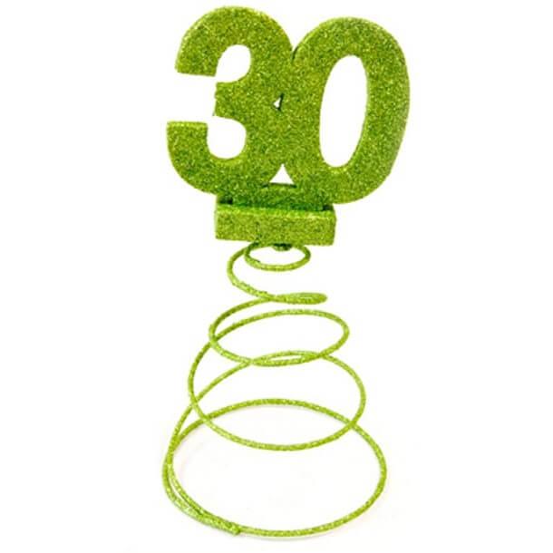 Centre de table anniversaire 30ans vert