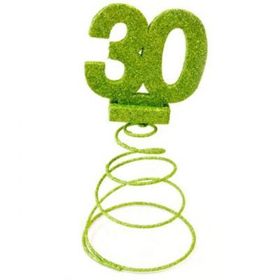 Centre de table anniversaire vert menthe 30ans (x1) REF/DEC768/30