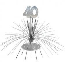 Centre de table anniversaire 40ans (x1) REF/CDT04