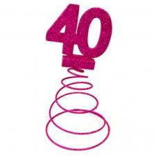 Centre de table anniversaire fuchsia 40ans (x1) REF/DEC768/40