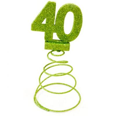 Centre de table anniversaire vert menthe 40ans (x1) REF/DEC768/40