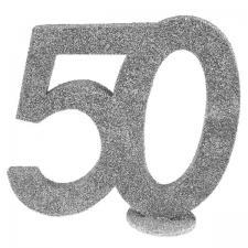 Centre de table anniversaire argent 50ans (x1) REF/4752