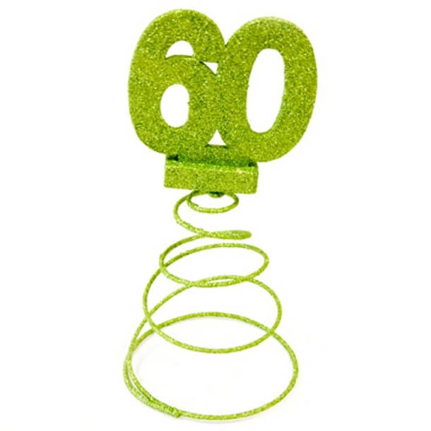 Centre de table anniversaire 60ans vert