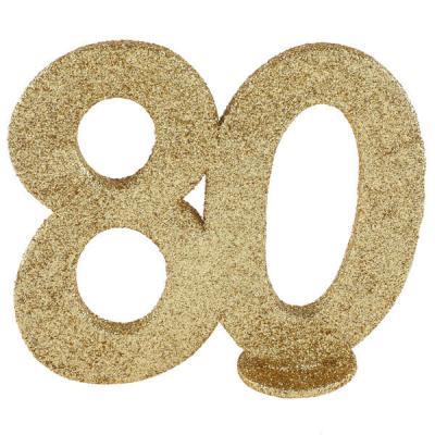 Centre de table anniversaire or 80ans (x1) REF/4753