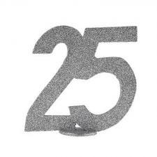 Centre de table anniversaire argent 25ans (x1) REF/4752