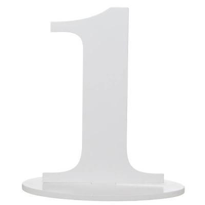 Marque-table anniversaire chiffre 1: Blanc (x1) REF/5051