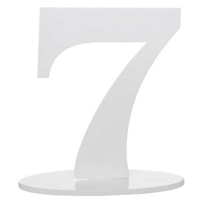 Marque-table anniversaire chiffre 7: Blanc (x1) REF/5051