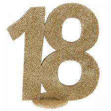 Centre de table anniversaire or 18ans (x1) REF/4753