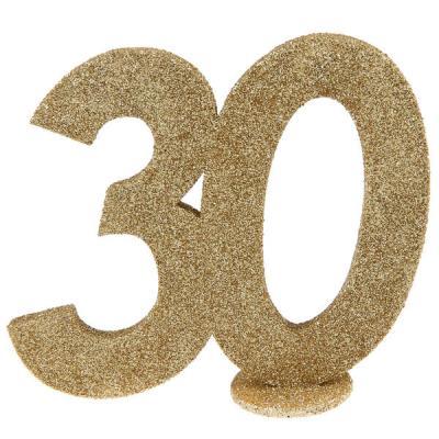 Centre de table anniversaire or 30ans (x1) REF/4753