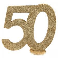 Centre de table anniversaire or 50ans (x1) REF/4753