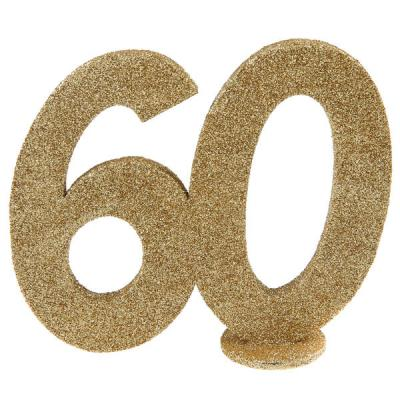 Centre de table anniversaire or 60ans (x1) REF/4753