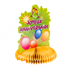 Centre de table anniversaire orange (x1) REF/AA1019PP