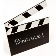 Porte menu ardoise cinéma (x1) REF/DEC473