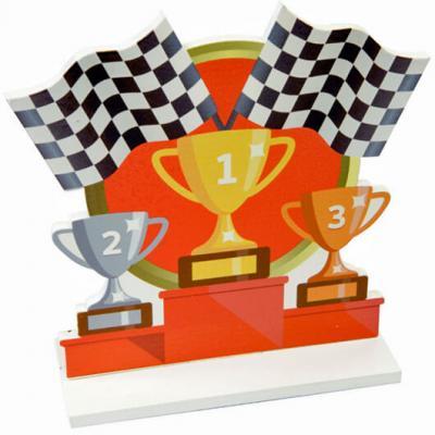 Centre de table victoire course 13cm (x1) REF/DEK0117
