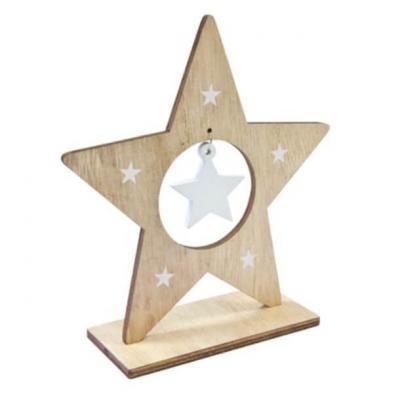 Centre de table étoile de noël 16cm (x1) REF/DEC949