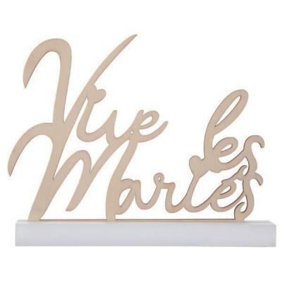 Centre de table lettre en bois mariage vive les mariés (x1) REF/7395