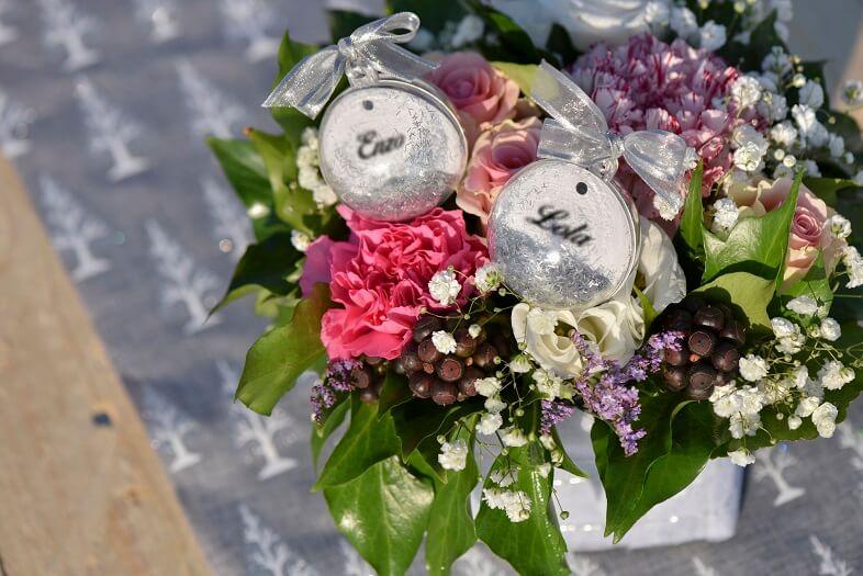 Centre de table mariage avec boule pvc