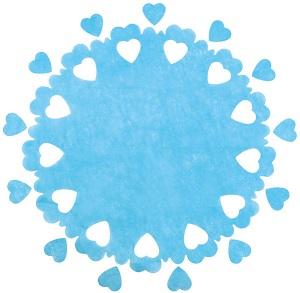 Centre de table mariage coeur bleu turquoise x5 ref 3280 - Centre de table bleu turquoise ...