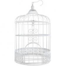 Centre de table mariage cage dentelle blanche (x1) REF/3871