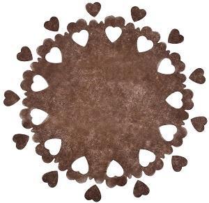 Centre de table mariage coeur: Chocolat (x5) REF/3280