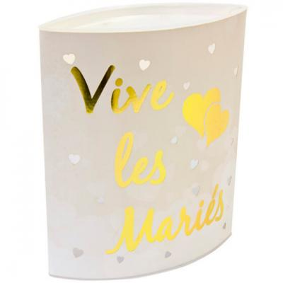 Centre de table mariage LED or 16.2cm (x1) REF/DEK0045