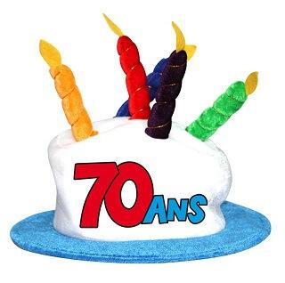 Chapeau anniversaire: 70ans (x1) REF/CHA08
