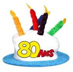 Chapeau anniversaire: 80ans (x1) REF/CHA09