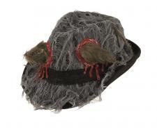 Chapeau Borsalino Halloween avec rat (x1) REF/14082