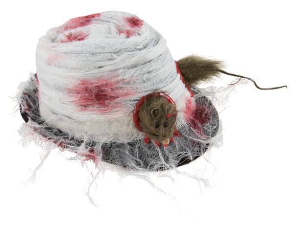 Chapeau borsalino halloween avec rat