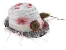 Chapeau Borsalino Halloween avec rat (x1) REF/15112