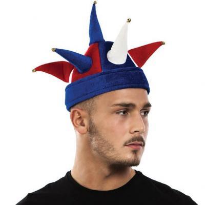 Chapeau de bouffon supporters France tricolore bleu, blanc et rouge (x1) REF/40041