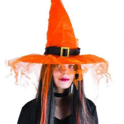 Chapeau de sorcière orange (x1) REF/50720